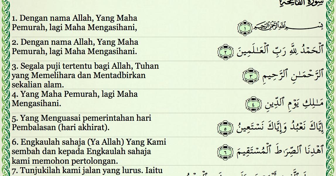 Fadhilah Dan Khasiat Al Fatihah Pengen Jadi Muslim Yg Baik