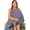 IntiMom Breastfeeding Nursing Cover, Wide Hooter Hider for Full Coverage Up, High-Quality Breathable 100% Cotton. Apron With Wide Strap and a Complementary Pouch - with Lifetime Guarantee