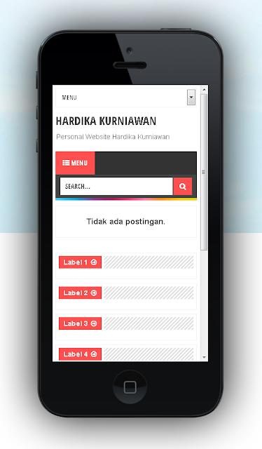Tampilan Website Blog di Layar Hp www.hardikakurniawan.com