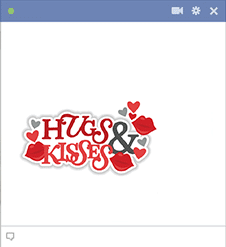 Hugs and Kisses Facebook Emoji