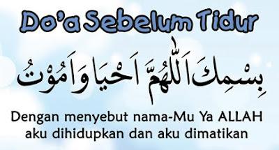 Bacaan Doa Sebelum Tidur Dan Bangun Tidur Syar'i