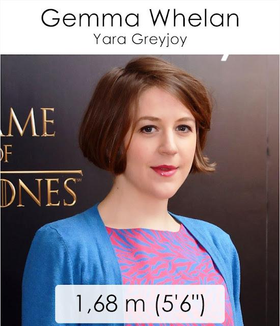 Gemma Whelan (Yara Greyjoy) 1.68 m