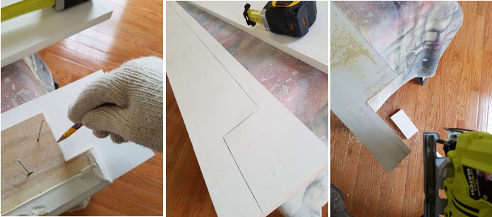 how to install window sill, tracing the shape