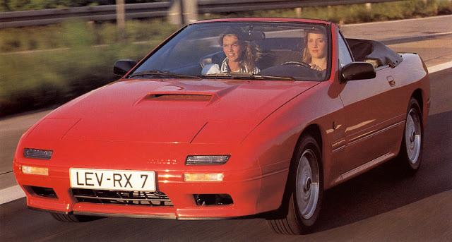 Mazda RX-7 FC, dziewczyny, kabriolet