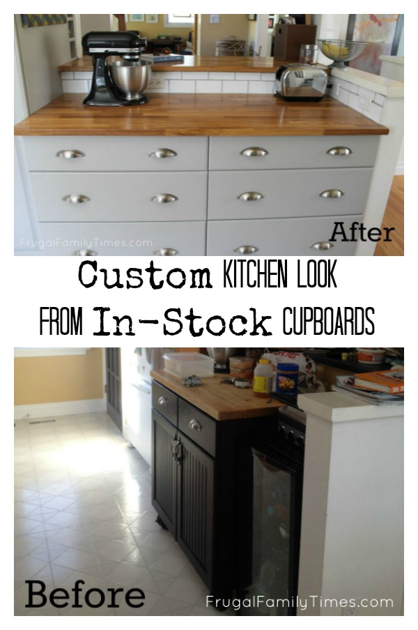 How to Hack In-Stock Cupboards to Make a Custom Kitchen (on a Budget!)