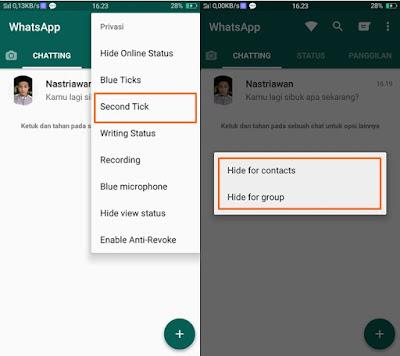 Cheat WhatsApp Chat Centang Satu