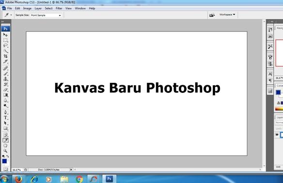 sebelum Anda memulai berkreasi menulis maupun menggambar dengan menggunakan software Phot Cara Mudah Membuat Lembar Kerja Baru di Adobe Photoshop