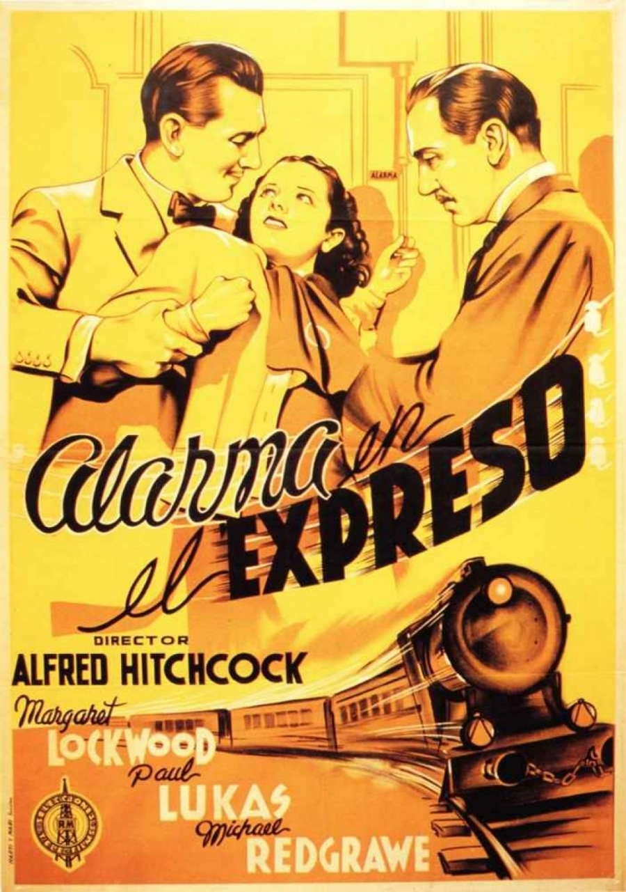 The Lady Vanishes aka Alarma en el expreso (1938, dir. Alfred Hitchcock) UK 2008 reissue poster