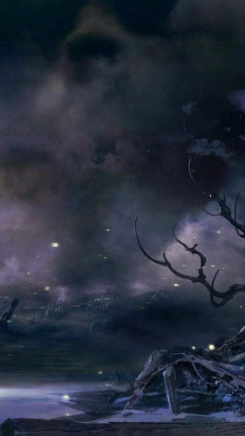 خلفية سماء مظلمة للأندرويد