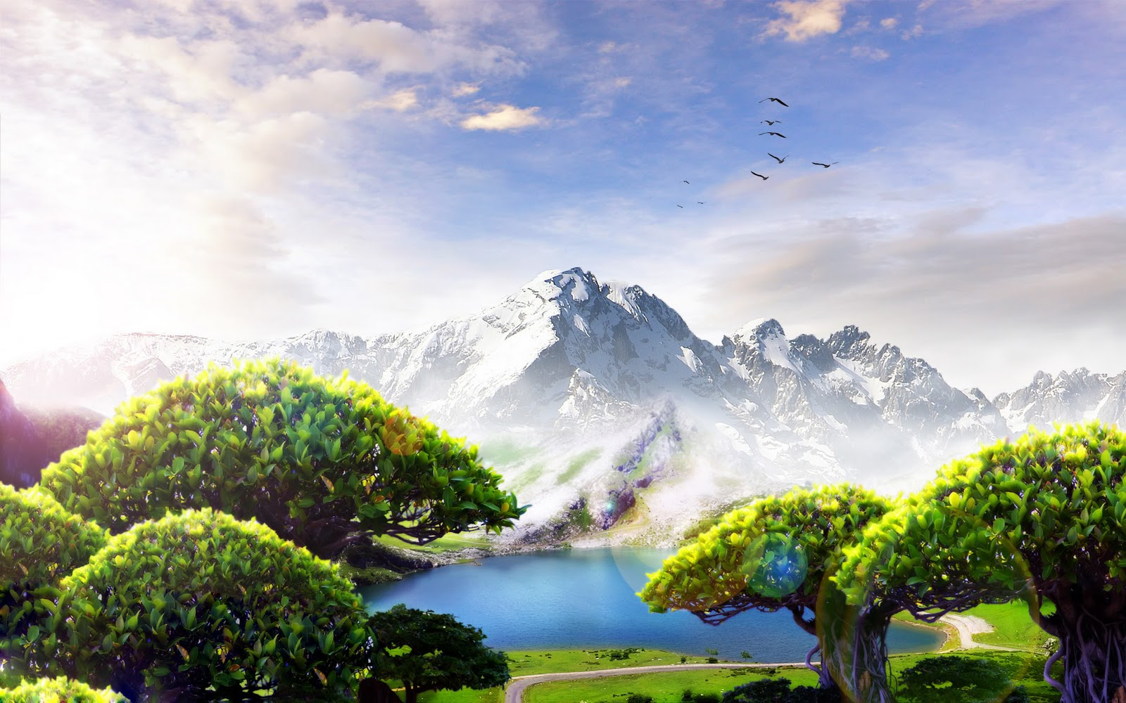 Wallpapers hd free scenery forest etc - Fantasy wallpaper anime ...