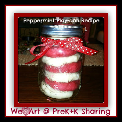 photo of: Peppermint Play-doh Recipe by We Heart Art at PreK+K Sharing