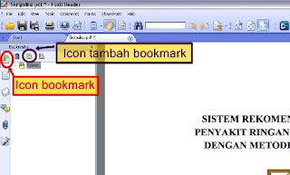cara bookmark pdf