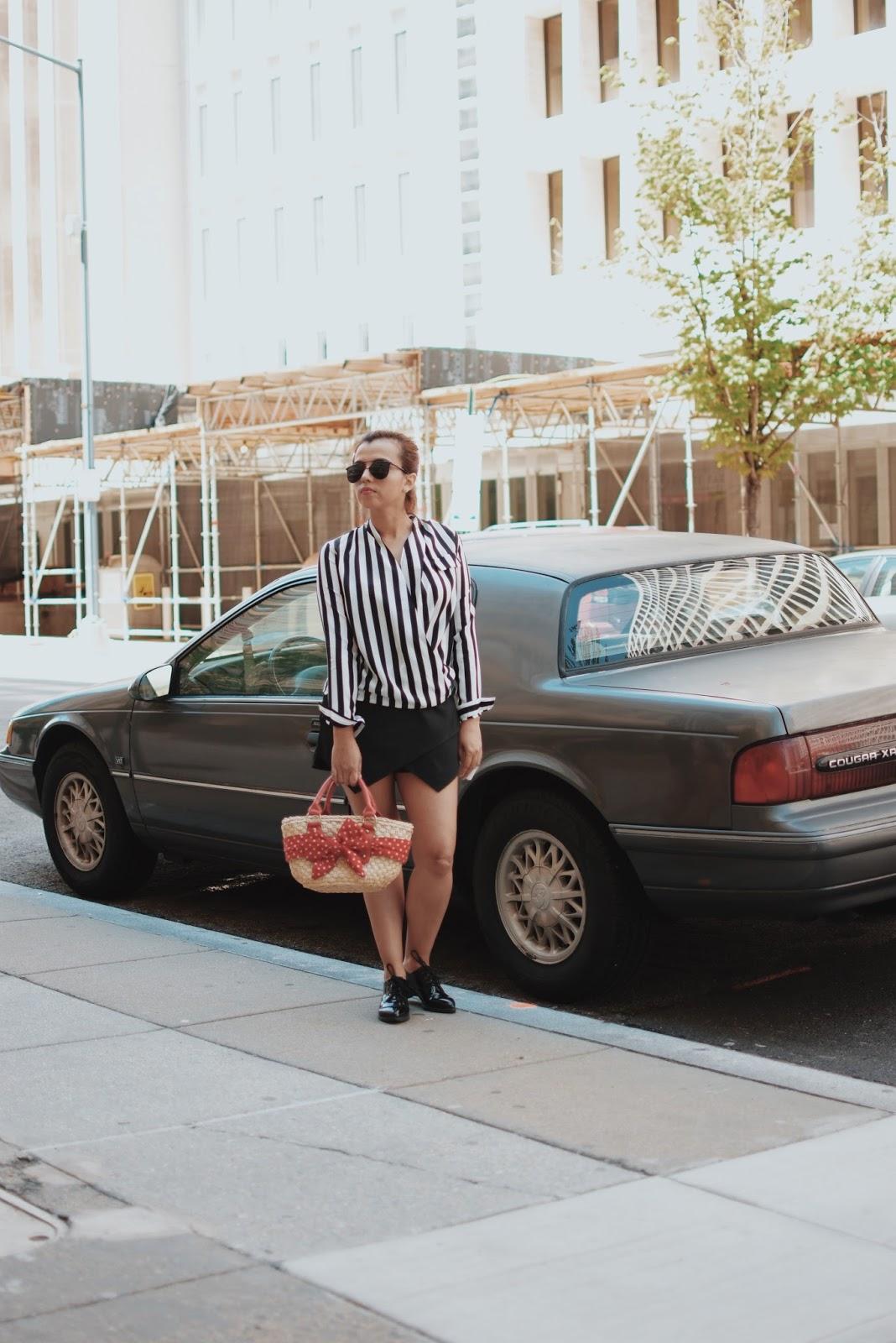 Wearing:  Blouse: LightInTheBox  Shorts: Choies   Shoes: Nine West