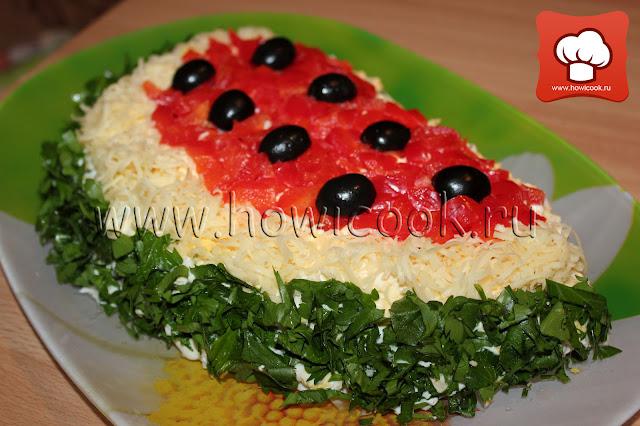 Рецепт как приготовить салат на праздник