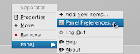 right click in bottom panel to start panel properties in linuxmint13xfce