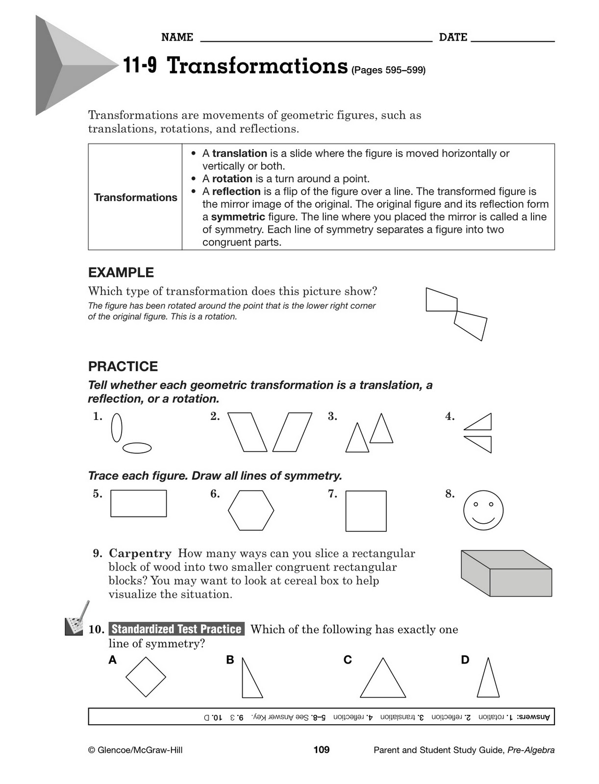 Holt California Mathematics Course 3 Homework And Practice