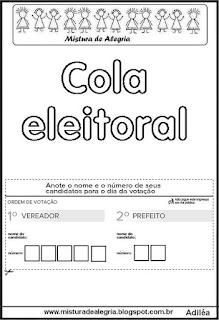 Atividades escolares sobre eleições