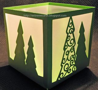 silhouette cameo Christmas vellum lantern