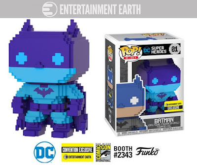 San Diego Comic-Con 2018 Exclusive Batman Video Game Deco 8-Bit Pop! Vinyl Figure by Funko x Entertainment Earth