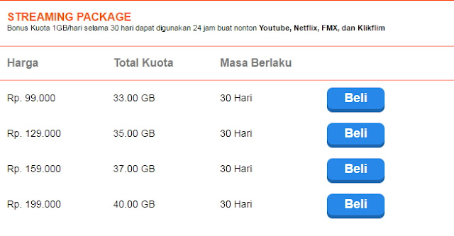 Streaming Package