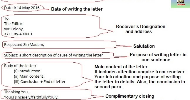 format for writing formal letters with example study rankers