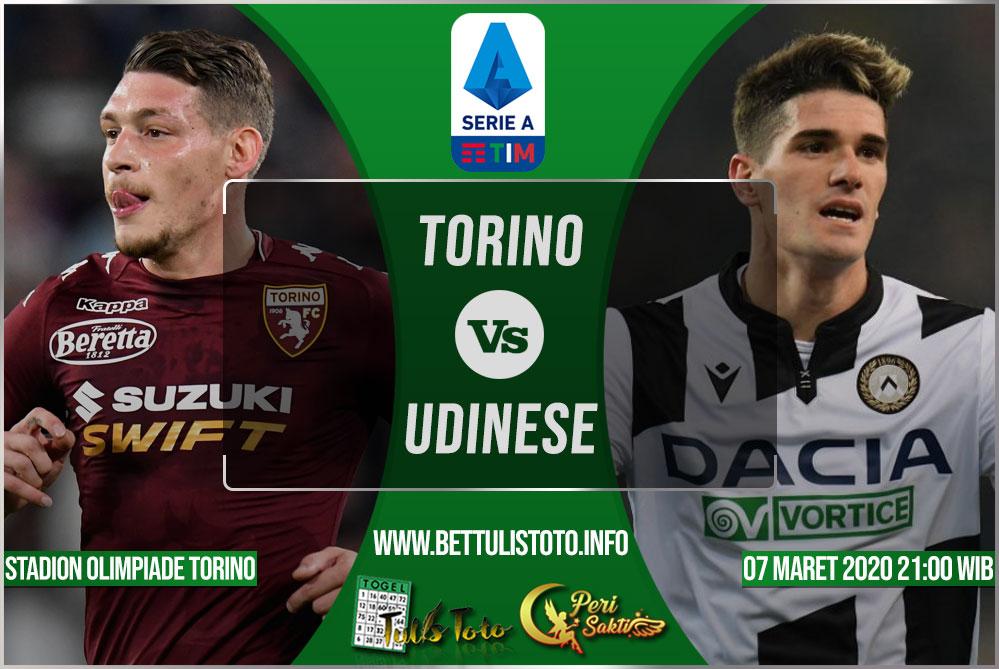 Prediksi Torino vs Udinese 07 Maret 2020