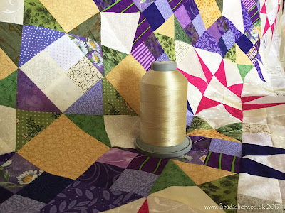 n Provence 2016 Mystery Quilt by Eirwen Quilted by Frances Meredith at Fabadashery Quilting