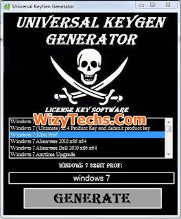 Universal keygen generator software