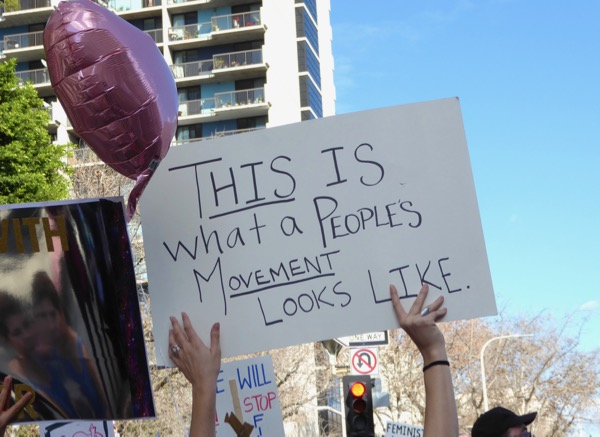 Womens March LA what a peoples movement looks like sign