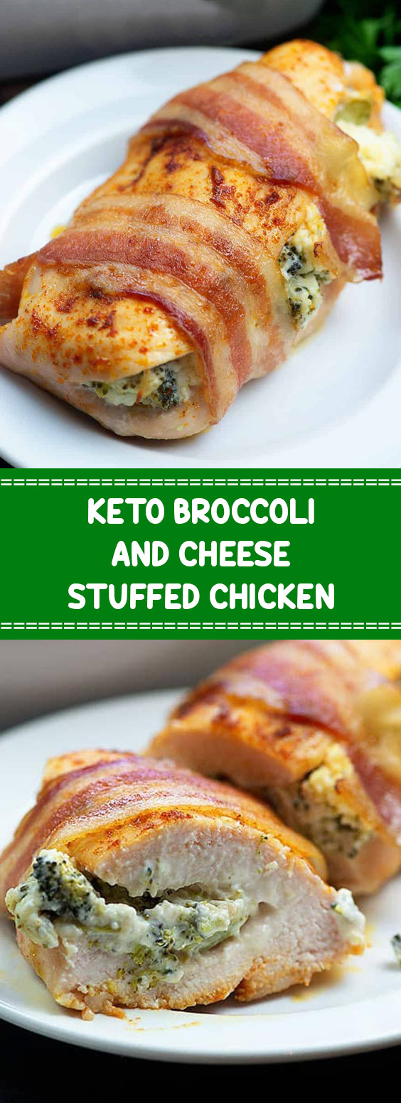 Keto Broccoli And Cheese Stuffed Chicken