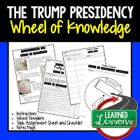 President Trump, Progressive Era, American History Activity, American History Interactive Notebook, American History Wheel of Knowledge