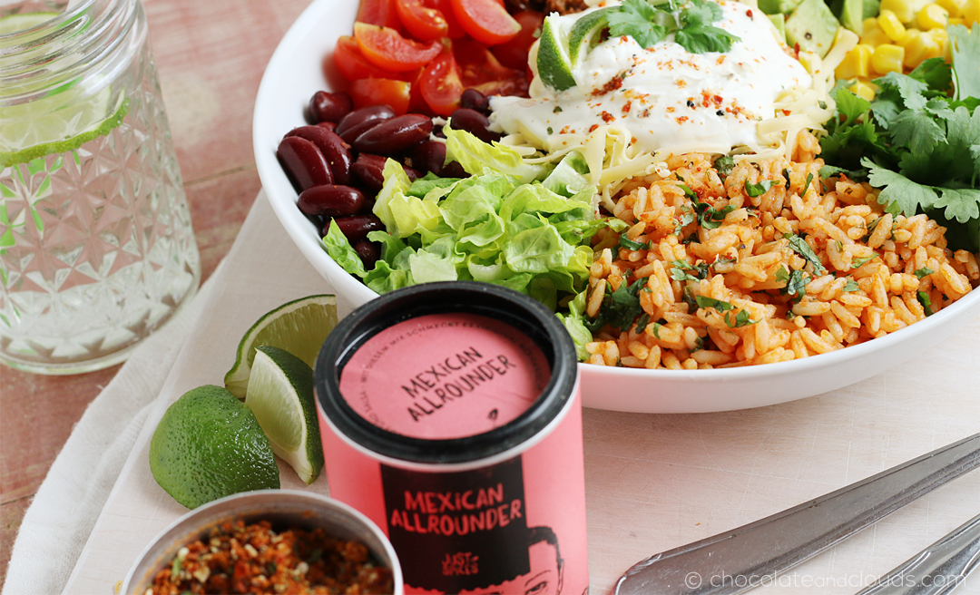 burrito bowl rezept mit just spices