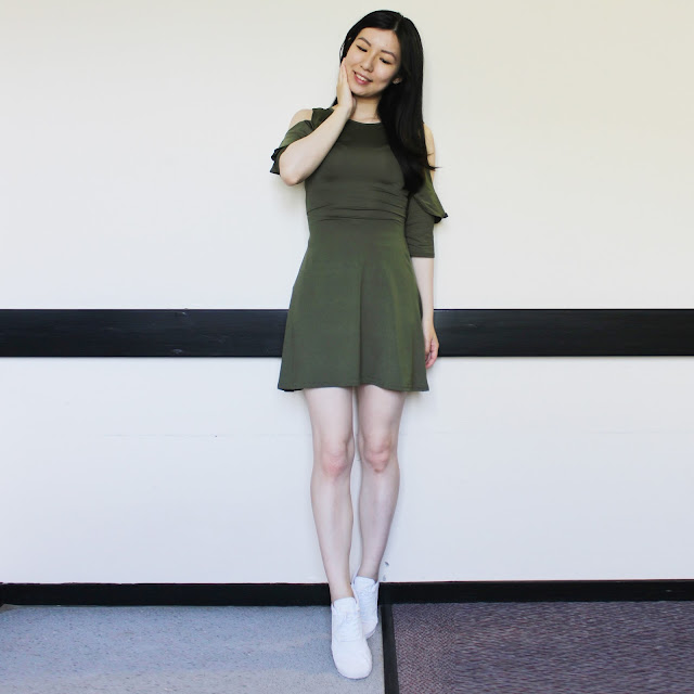 Green Layered Cold Shoulder Dress, Grey Layered Cold Shoulder Dress, xanas boutique blog review, xanas boutique dress, xanasboutique review, xanas boutique feature