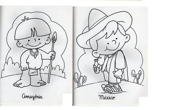 Niños Indigenas Para Dibujar Imagui