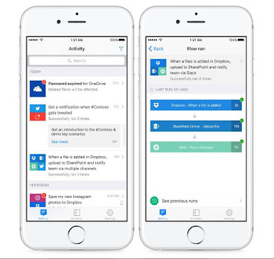 Microsoft Flow app launches on iPhone