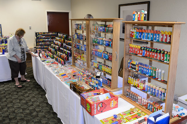 Judy Johnson's display at Steel City PEZ Gathering
