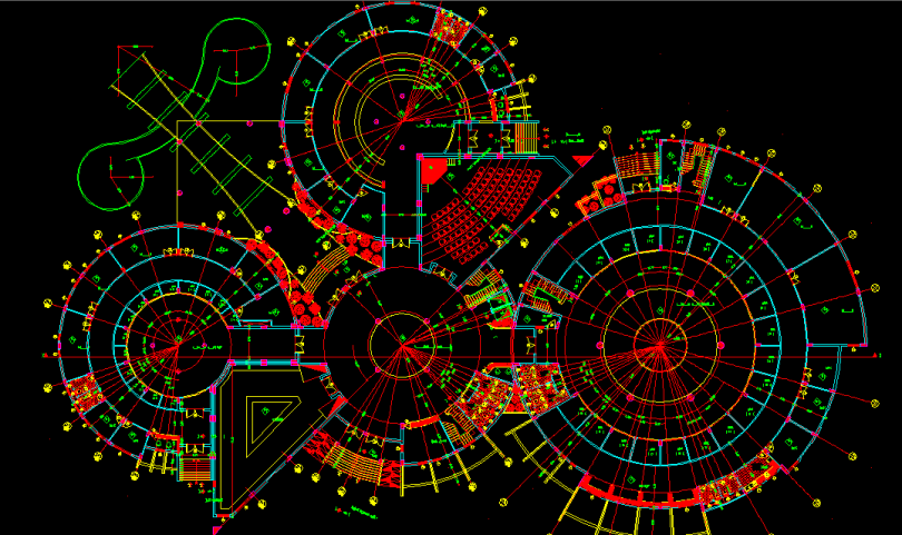 Museum Project Design Cad Drawings