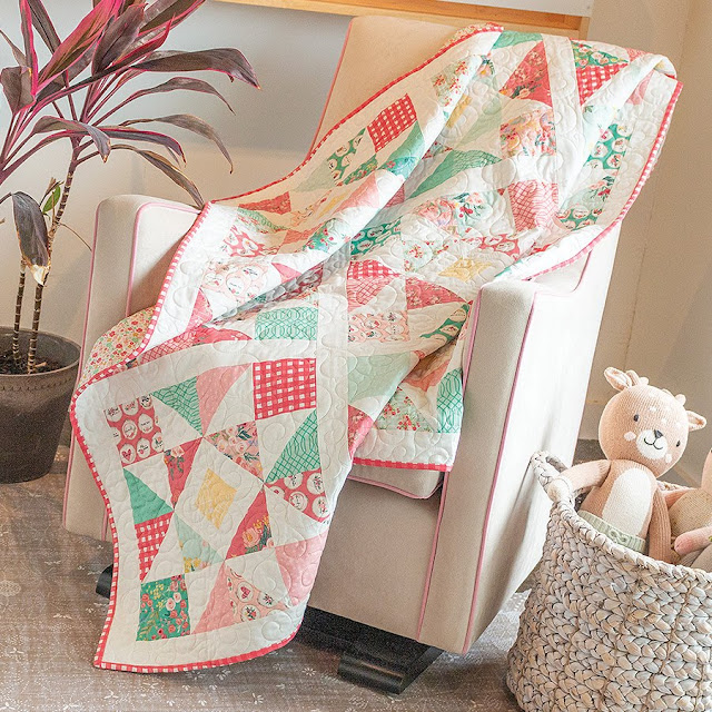 Shine Bright Quilt from the Charming Baby Quilts book by Melissa Corry - a charm pack baby quilt