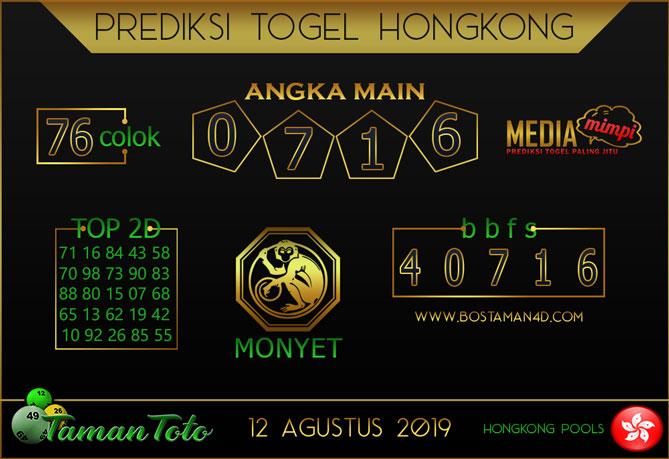 Prediksi Togel HONGKONG TAMAN TOTO 12 AGUSTUS 2019