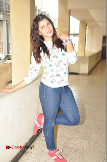 Actress Mannara Chopra Pictures in Denim Jeams at Thikka Movie Interview  0258.JPG