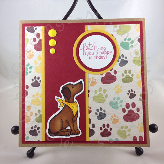 Labrador Dog Birthday Card | Fetching Friendship stamp set by Newton's Nook Designs
