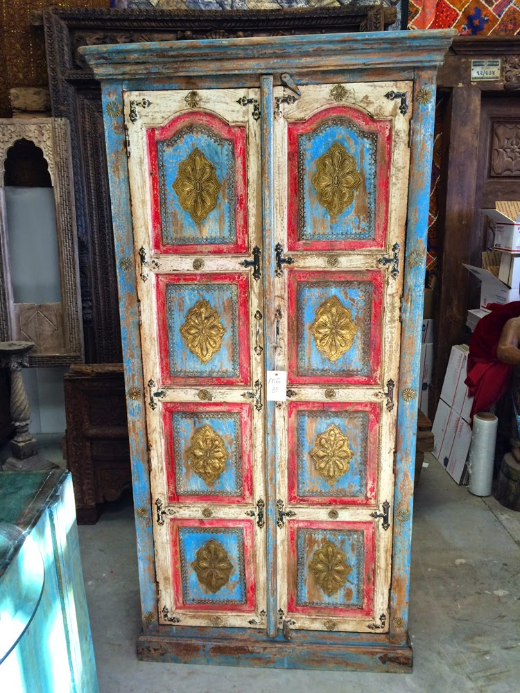 Indian Wooden Furnitures Antique Armoire Wardrobe Closet