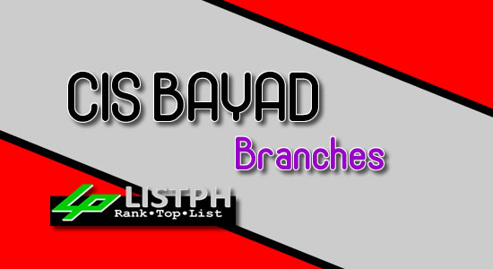 List of CIS Bayad branches