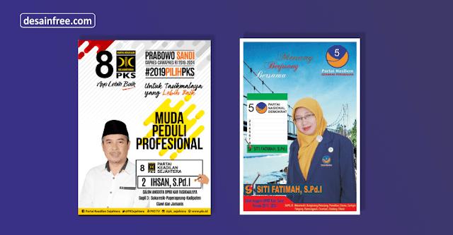 File mentahan Baliho caleg pemilu 2019