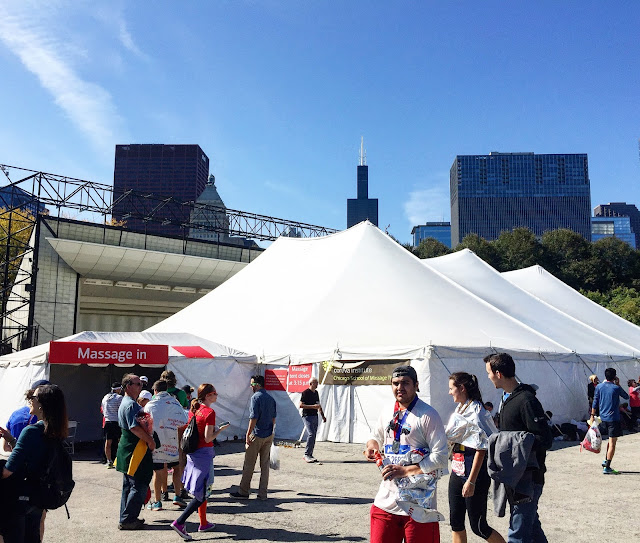 Chicago Marathon Massage tent