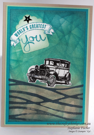 Stampin Up Australia, #thecraftythinker, Guy Greetings, Swirly Scribbles Stamp, Masculine Card, Stampin Up Australia demonstrator