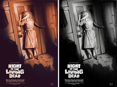 Night of the Living Dead Movie Poster Screen Print by Sara Deck x Grey Matter Art