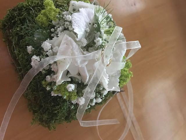 Moos-Ringkissen, Hochzeit in Apfelgrün und Weiß im Riessersee Hotel Garmisch-Partenkirchen, Hochzeitshotel in Bayern, heiraten in den Bergen am See