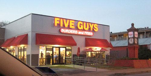 Loja Five Guys Orlando Miami