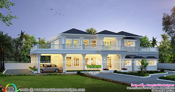 Modern 5 BHK villa architecture